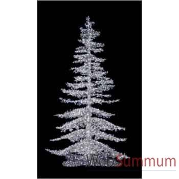 Sapin de noël géant professionnel crystal lumineux argent led blanc de 5.30m à 7m