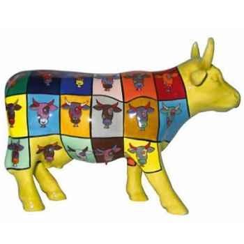 Cow Parade -Boston 2006, Artiste Joe Fiorello -Pop Art Cow-41293