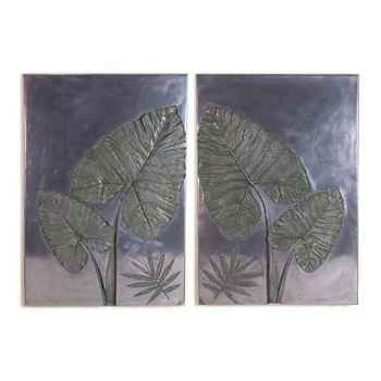 Décoration murale Taro Wall Plaque Set, aluminium -bs4100alu