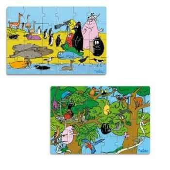 Puzzles 2 x 24 pcs les animaux du monde barbapapa vilac 5859