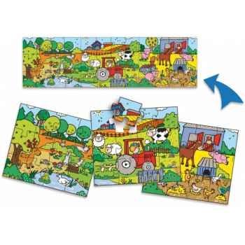 3 puzzles ferme panoramiques boîte enclos vilac 2518