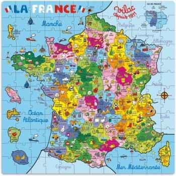 Puzzle 144 pcs carte de france en valise vilac 2603