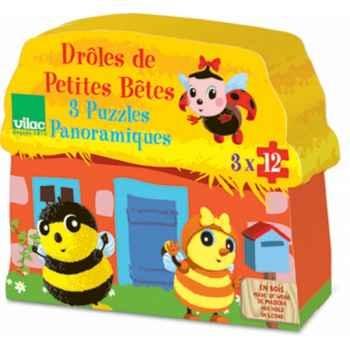 Coffret 3 x 12 pcs puzzles ddpb boîte maison vilac 5436