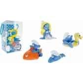 figurine set n1 schtroumpfs 4 pcs schtroumpfs bouee c poisson et plongeur schtroumpfette plastoy 80530