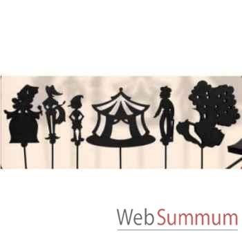 Coffret 6 marionnettes a ombres pinocchio anima scéna 23660
