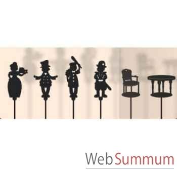 Coffret 6 marionnettes a ombres Guignol anima scéna 23653