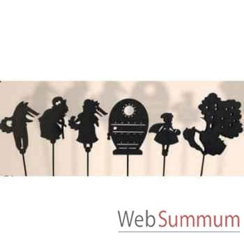 Coffret 6 marionnettes a ombres Le Petit Chaperon Rouge anima scéna 23677