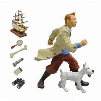 Coffret figurine tintin et milou Plastoy 60870