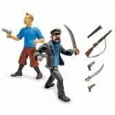 coffret figurine tintin et capitaine haddock plastoy 60871