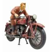 coffret figurine tintin sur sa moto plastoy 60872