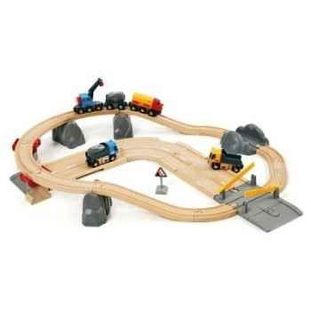 Circuit rai/ route transport de roches BRIO 33210