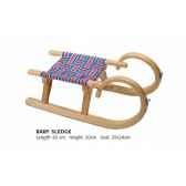 luge nordique en bois gris bleu rouge pour enfant modele baby sport d hiver 20150010300