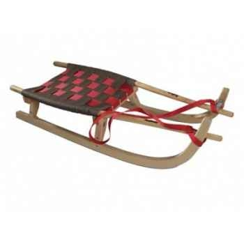 Grande luge nordique en bois 2 places rouge gris Sport d'hiver 20150013304