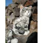 peluche chat assis gris 33cmht anima 1962