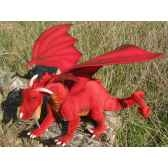 peluche dragon rouge 70cm long anima 5936
