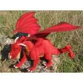 peluche dragon rouge 70cm long anima 5936