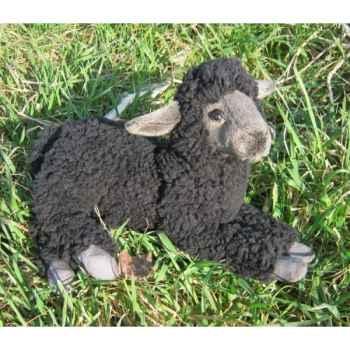 Peluche agneau noir couché 33cm (long.) Anima 5973