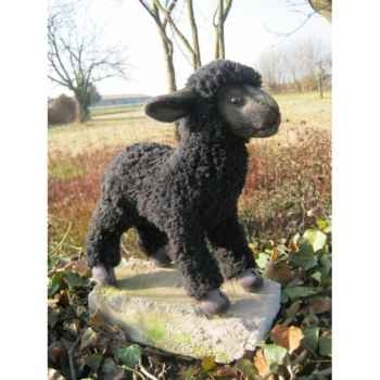 Peluche agneau noir à 4 pattes 28cm (long.) Anima 5974