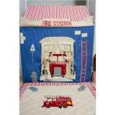 maison tissu grande caserne pompier jouet enfant