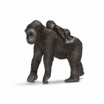 Figurine femelle gorille avec son bébé schleich-14662