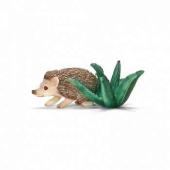 Figurine hérisson à ventre blanc schleich-14676