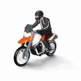 figurine moto avec conducteur schleich 42092