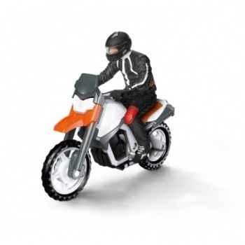 Figurine moto avec conducteur schleich-42092