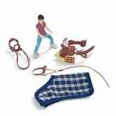 figurine set equitation poney camping schleich 42093