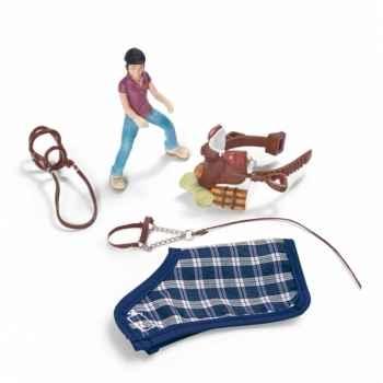 Figurine set équitation poney, camping schleich-42093
