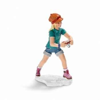 Figurine jeune fille avec appareil photo schleich-13469