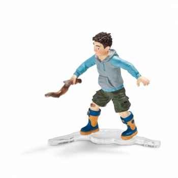 Figurine garçon avec une branche schleich-13904