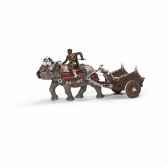 figurine gladiateur avec rhinoceros de combat schleich 70083