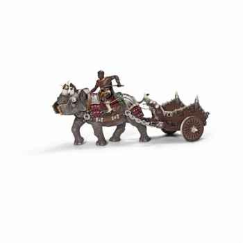 Figurine gladiateur avec rhinocéros de combat schleich-70083
