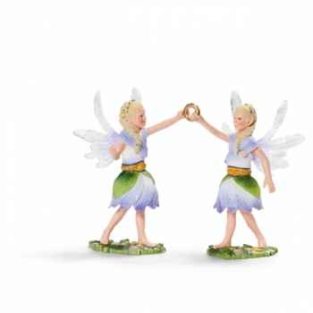 Figurine elfes jumeaux des anémones schleich-70458