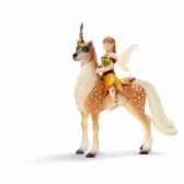 figurine elfe sur une licorne femme schleich 70460