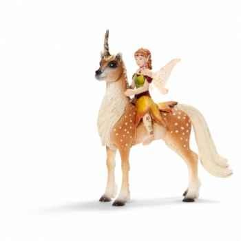 Figurine elfe sur une licorne, femme schleich-70460