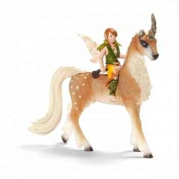 Figurine elfe sur une licorne, homme schleich-70461