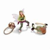 figurine set equitation elfe des bois schleich 42098