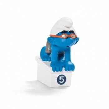 Figurine Schtroumpf sportif nageur schleich-20736