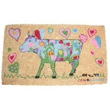 Cow Parade -Paillasson Cow Prairie-Coeur-PAC1328