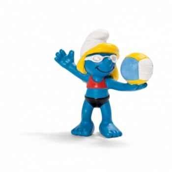 Figurine Schtroumpfette sportif volleyeuse schleich-20738