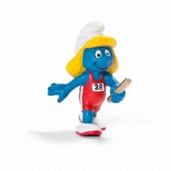 Figurine Schtroumpf sportif relayeuse schleich-20739