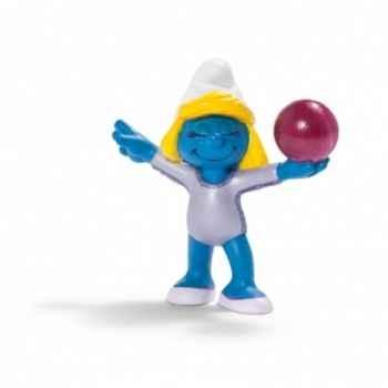 Figurine Schtroumpf sportif gymnaste au sol schleich-20740
