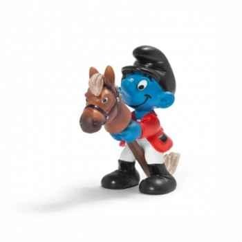 Figurine Schtroumpf sportif cavalier schleich-20743