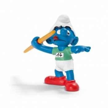 Figurine Schtroumpf sportif lanceur de javelot schleich-20744