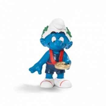 Figurine Schtroumpf sportif vainqueur schleich-20745
