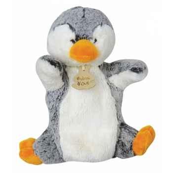 Peluche histoire d ours marionnette z animoos pingouin 2131 histoire d\'ours