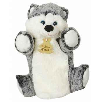 Peluche histoire d ours marionnette z animoos husky 2134 histoire d\'ours