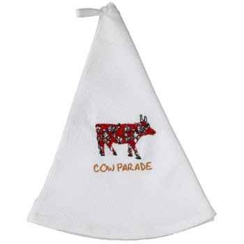 Cow Parade-Torchon rond Nid d'Abeille. -TRNL