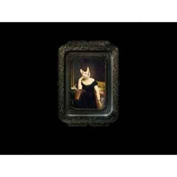 Visconti plateau tableau rectangulaire chat victoire ibride